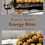 Pinterest image for Peanut Butter Energy Bites