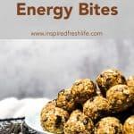Pinterest image for Peanut Butter Engergy Bites