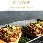 Pinterest image for Beans and Sausage on Toast