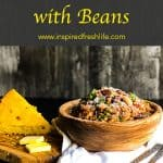 Pinterest image for Chorizo and Bean Chili.