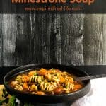 Vegetable Minestrone Soup Pinterest image