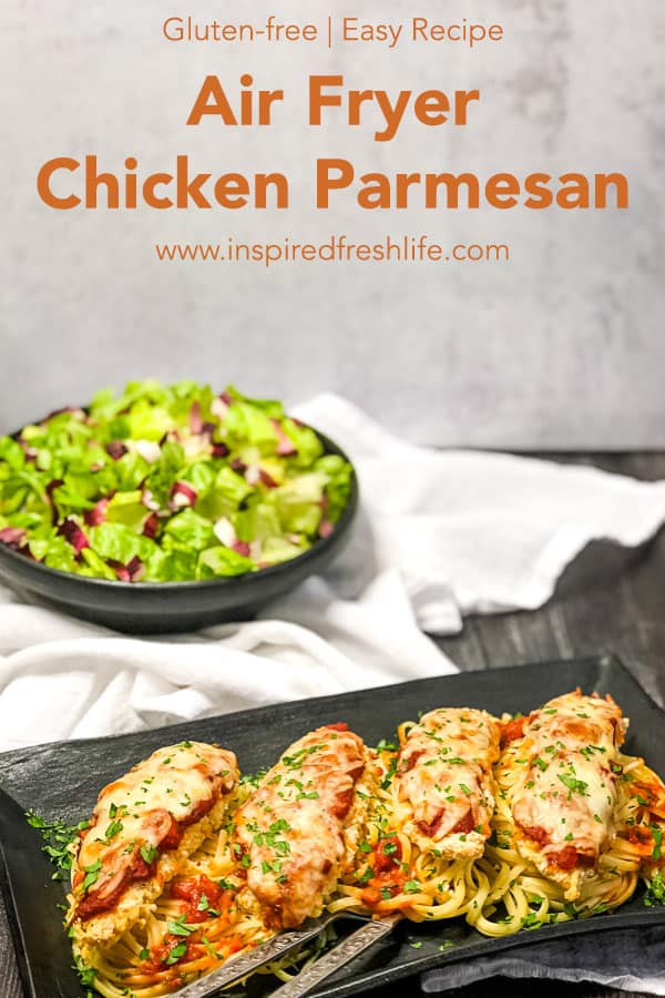 Pinterest image for Air Fryer Chicken Parmesan