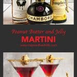 Pinterest image for Peanut Butter and Jelly Martini