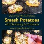 Pinterest image for Smash Potatoes