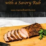 Pinterest image for Smoked Pork Loin