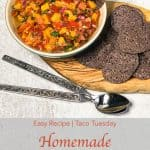 Pinterest image for Homemade Mango Salsa