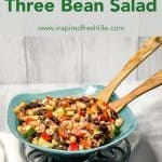 Pinterest image for Mediterranean Three Bean Salad