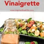 Pinterest image for Strawberry Basil Vinaigrette
