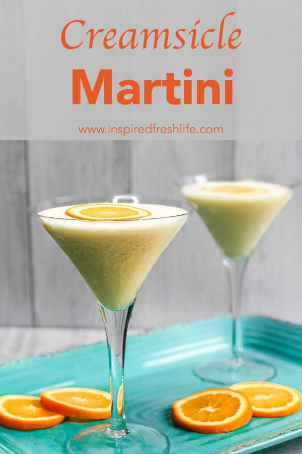 Pinterest image for Creamsicle Martini