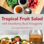 Pinterest image for Tropical Fruit Salad