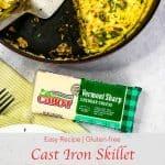 Pinterest image for Cast Iron Skillet Frittata.