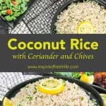 Pinterest image for Coconut Rice.