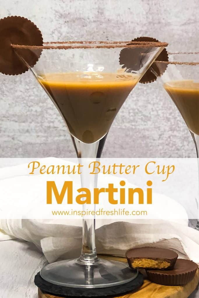 Pinterest image for Peanut Butter Martini.