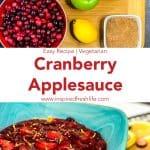 Pinterest image for Cranberry Applesauce.