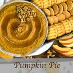 Pinterest image for Pumpkin Pie Dessert Hummus.