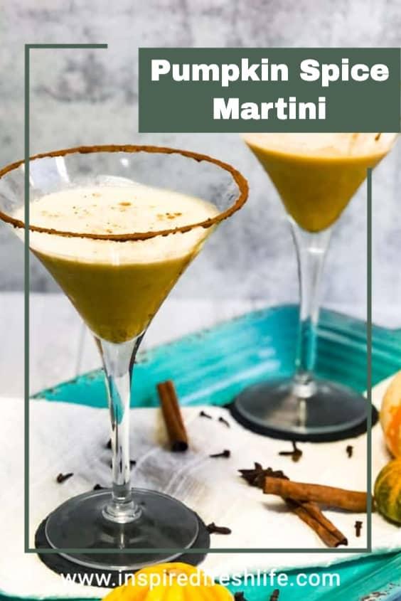 Pinterest image for Pumpkin Spice Martini