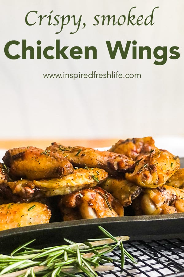 Pinterest image for Crispy Smoked Chicken Wings